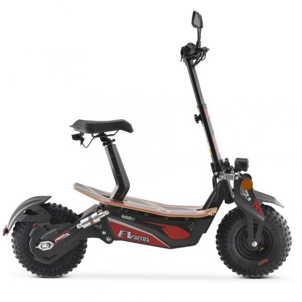 Ev Ultra Electric Scooter View 2 Red Decal