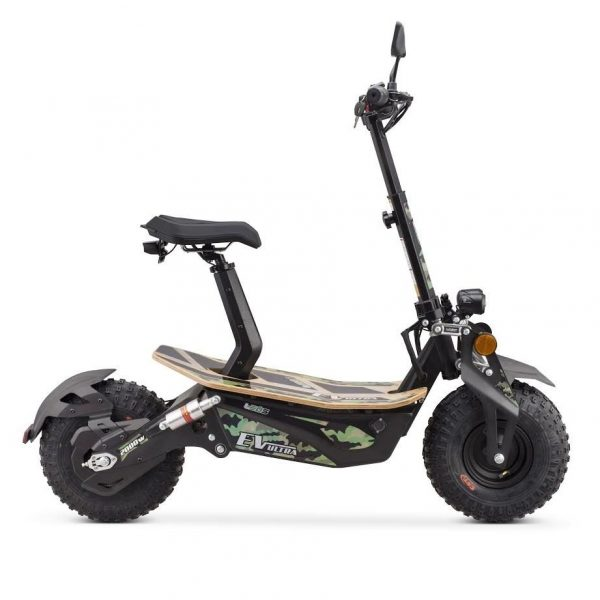 Ev Ultra Electric Scooter View 1 Army Green Decal
