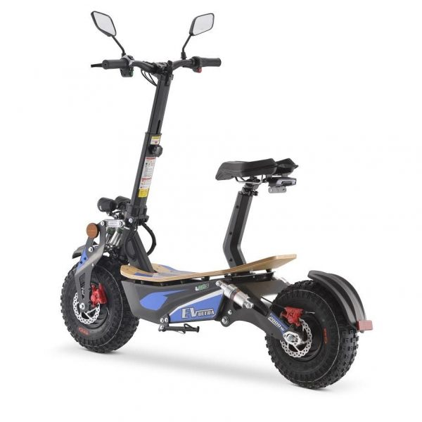 Ev Ultra Electric Scooter View 6 Blue Decal