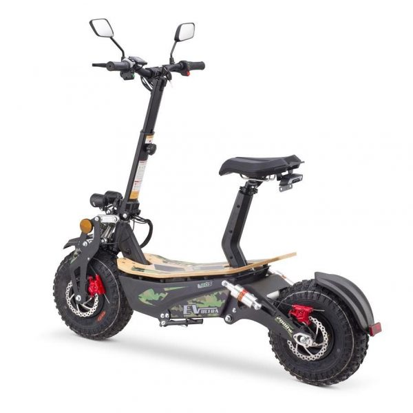 Ev Ultra Electric Scooter View 4 Army Green Decal