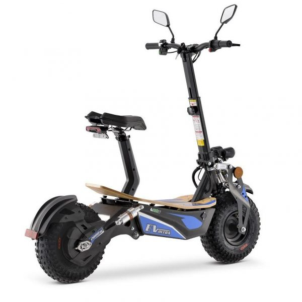 Ev Ultra Electric Scooter View 3 Blue Decal