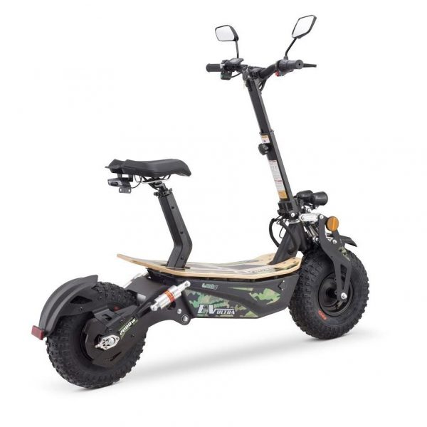 Ev Ultra Electric Scooter View 2 Army Green Decal