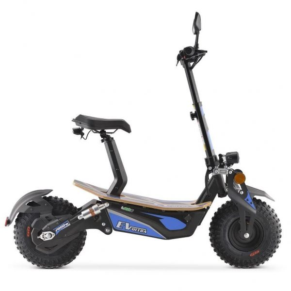 Ev Ultra Electric Scooter View 2 Blue Decal