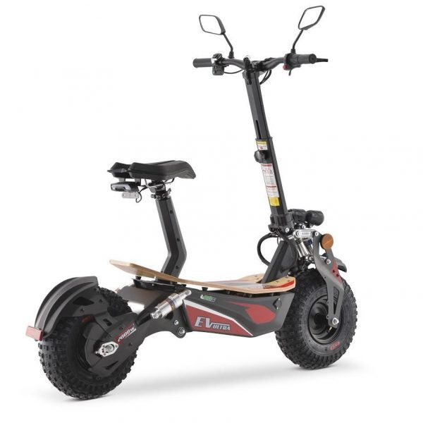 Ev Ultra Electric Scooter View 5 Red Decal