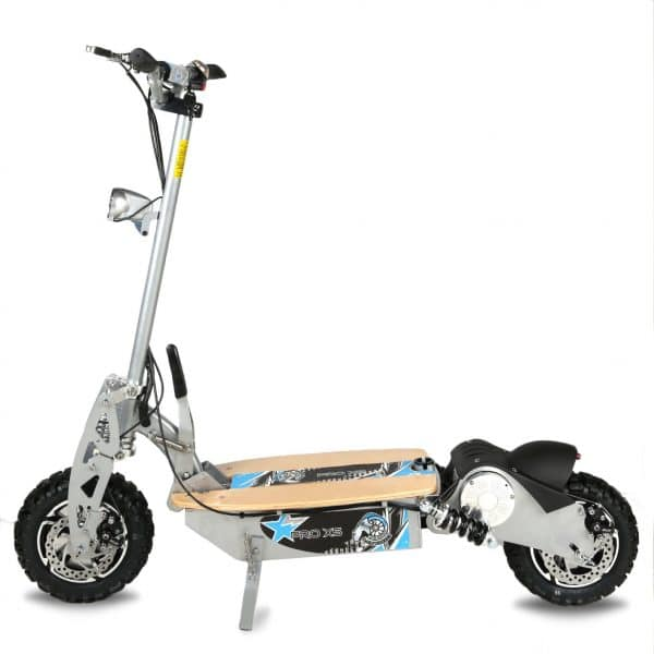 Pro Xs Electric scooter in sillver side view