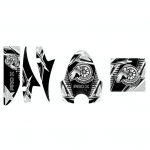 Pro X Series Silver Decal Pack